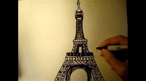 drawing lesson   draw  eiffel tower easy