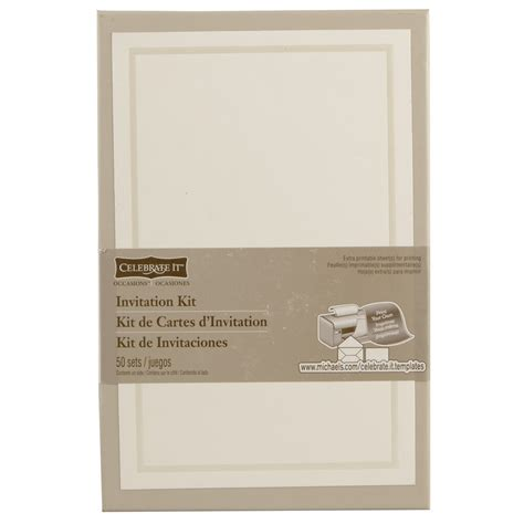 celebrate it occasions invitation kit ivory border