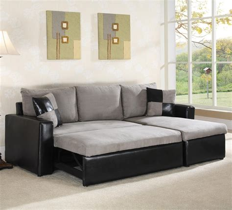 Sectional Sofas Sleeper by 21 Collection Of Black Leather Sectional Sleeper Sofas