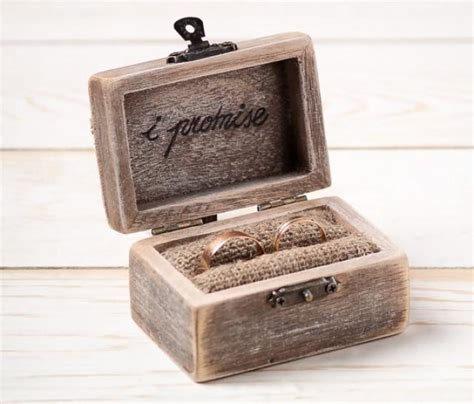 ring bearer box wedding ring box rustic wedding ring