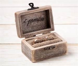 ring bearer box wedding ring box rustic wedding ring With wedding ring case
