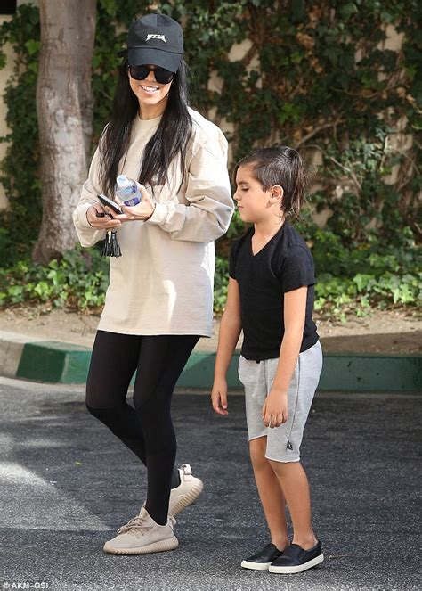 kourtney kardashian runs errands with son mason in