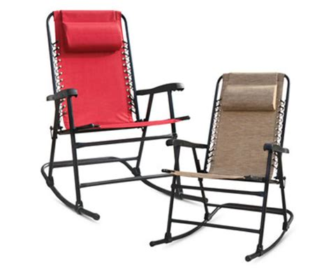 aldi us gardenline folding rocking chair