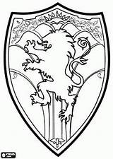 Narnia Coloring Shield Pages Chronicles Lion Wardrobe Medieval Witch Peter Template King Coat Arms Google Colouring Embroidery Printable Drawing Sheets sketch template