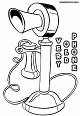 Phone Coloring Pages Retro sketch template