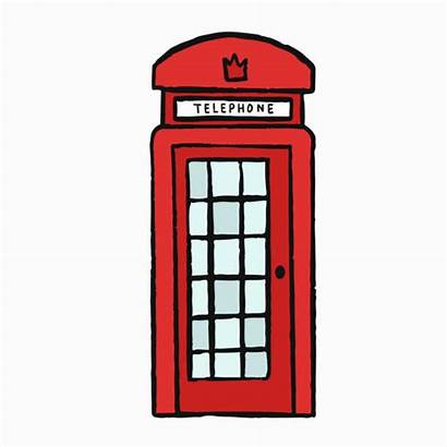 Telephone Box Vector Phone London Illustration Classic
