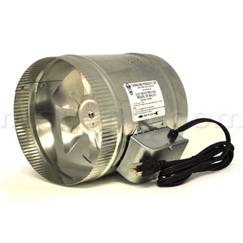 duct booster fan installation buy tjernlund automatic 8 quot duct booster fan with cord ef