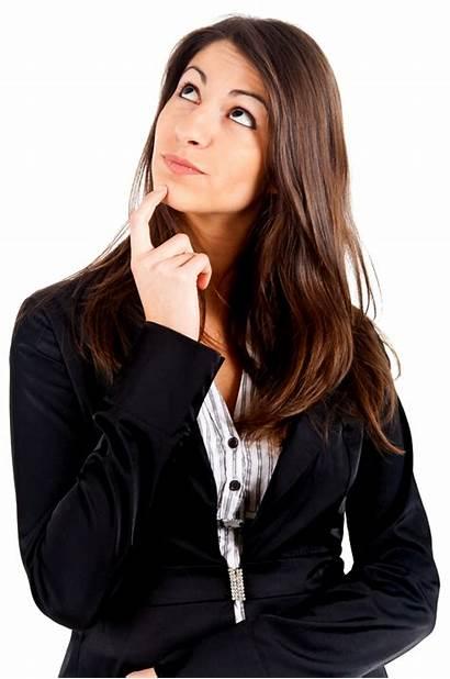 Thinking Woman Transparent Business Freepngimg Again Reflections