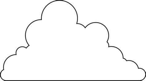 Cloud Template Cloud Clipart Cutout Pencil And In Color Cloud Clipart
