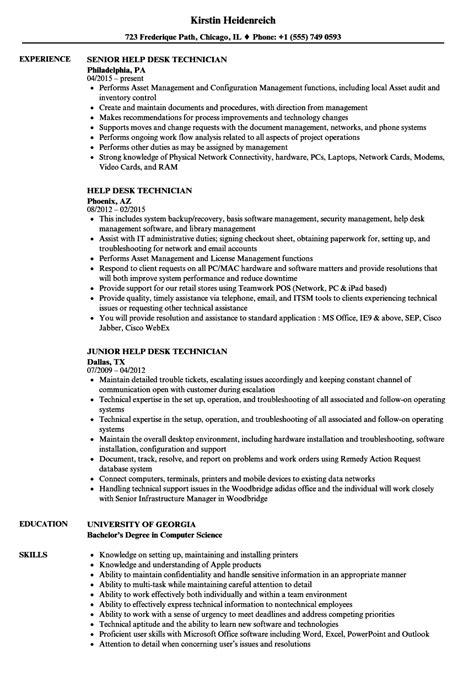 Help Resume by Help Desk Technician Resume Sles Velvet