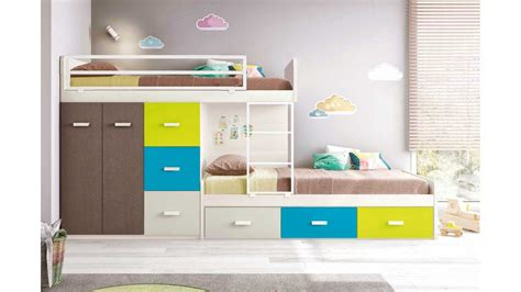 bureau mobilier de lit superposé enfant pour une chambre enfant glicerio so nuit