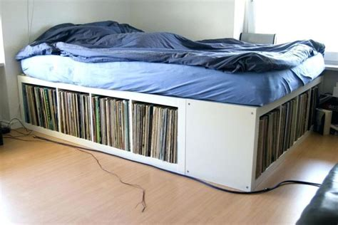 elevated bed  storage decorating excellent full