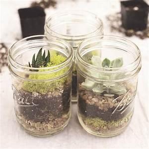pot mason 15 idees de projets diy avec des pots mason With decoration d un petit jardin 15 boule de neige plante en ligne