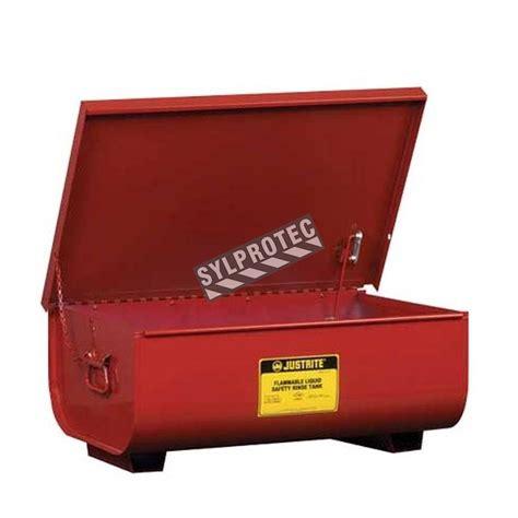 gallon steel bench top rinse tank  justrite