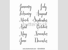 Calendar January For Handwriting Stock Images, Royalty