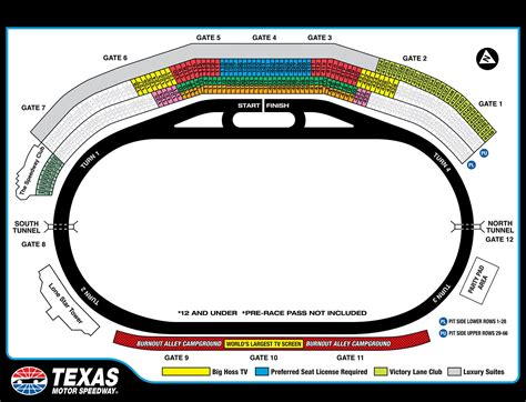 nascar seating charts race track  speedway maps