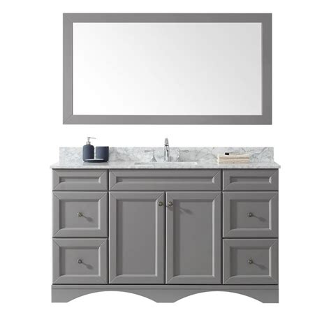 virtu usa talisa    bath vanity  gray  marble
