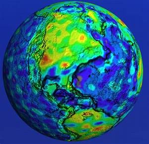 Globe View Showing Magnetic Field