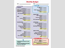 Monthly Budget Template Free Download, Create, Edit, Fill