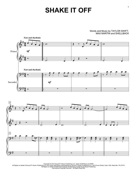Shake It Off Piano Chords
