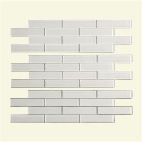 Menards Glass Subway Tile by Aspect 12 Quot X 4 Quot Matted Subway Glass Peel Stick