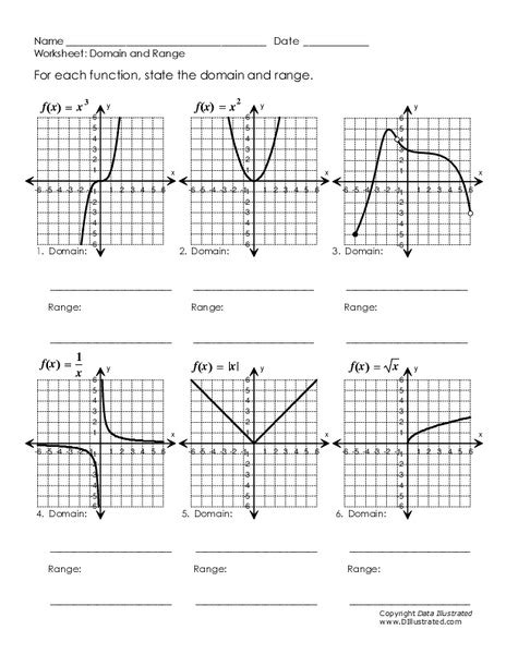 all worksheets 187 domain and range worksheets with answers