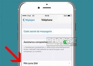 Changer Code Pin Iphone Se : comment changer le code pin de la carte sim de son iphone ~ Medecine-chirurgie-esthetiques.com Avis de Voitures