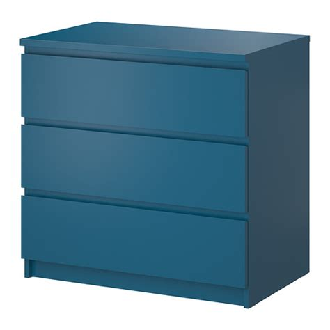 malm 3 drawer chest turquoise 31 5 8x30 3 4 quot ikea
