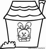 Coloring Rabbit Treehut Template Lantern Paper Rabbits Diwali Rangoli Floral Colored Printable Divine Mother sketch template