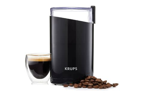 Krups Electric Coffee & Spice Grinder, Black Italian Coffee Roasters Delonghi Machine Hk Turkish At Home With Alcohol Aroma Button Jar Oman Ifd