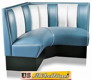 Us Diner Möbel : hw 120 120blu american dinerbank eckbank diner b nke m bel 50 s retro usa style ebay ~ Markanthonyermac.com Haus und Dekorationen