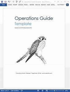 Operations Guide Template  Ms Word  Excel   U2013 Templates