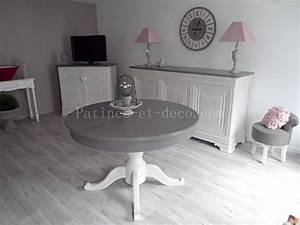Table Grise Et Blanche : avant apres relooking d une salle manger louis philippe patines et deco ~ Teatrodelosmanantiales.com Idées de Décoration