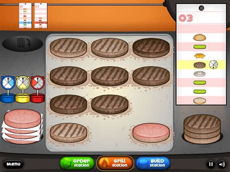 jeu de cuisine papa louis jeux de cuisine les burgers de papa louis
