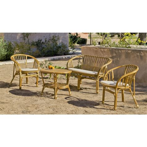 salon de jardin en rotin naturel nilfisk 1 sofa 2