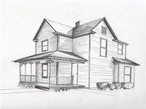 Beautiful Simple House Sketch by Perspective Drawings Nata Helper Surreal Cities