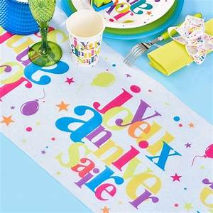 Chemin De Table Anniversaire : chemin de table anniversaire multicolore drag es anahita ~ Melissatoandfro.com Idées de Décoration