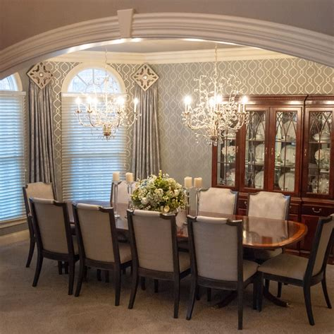 designing  formal dining room  sophisticated shine