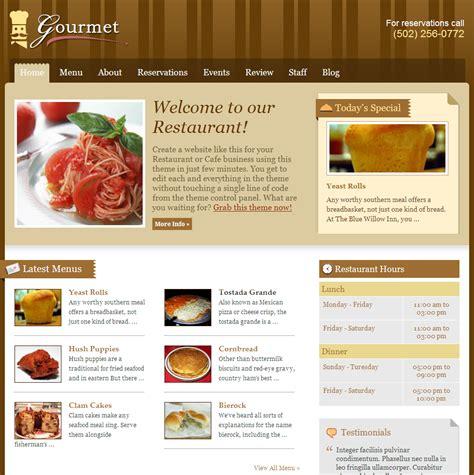 cuisine site portfolio top level web design