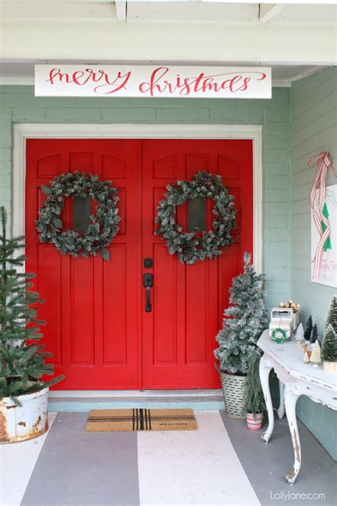 front porch christmas decor lolly jane