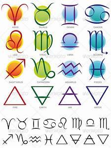 Zodiac & Elements Sign and Symbol set | Earth google ...