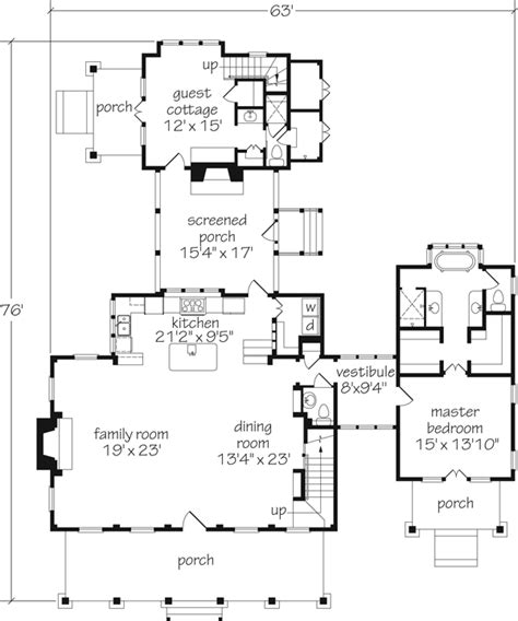 guest cottage floor plans introducing house plan thursday coastal living house plan