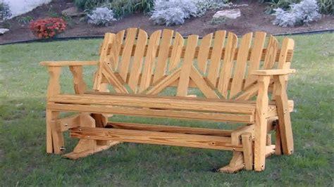 wooden porch glider plans  description