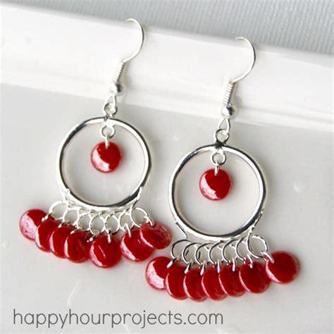 tangerine chandelier earrings happy hour projects