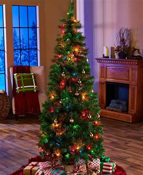 ft prelit pop  christmas tree  multi colored lights