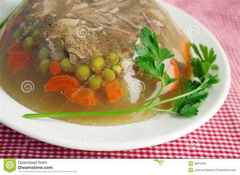 aspic cuisine cuisine pork aspic royalty free stock photo