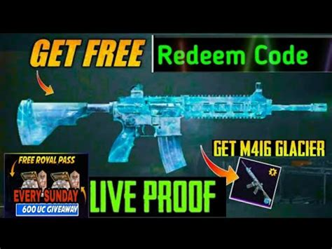 Second time it got converted into 3 materials which i used to upgrade it. New PUBG Free glacier M416 Skin | Free Redeem Code | Every ...
