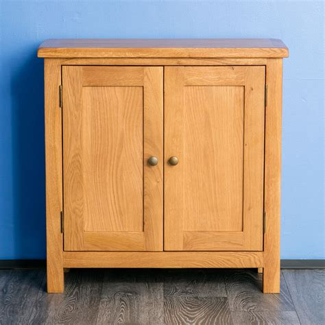 Small Wooden Cupboards by Surrey Oak Small Cupboard Solid Wood 2 Door Sideboard