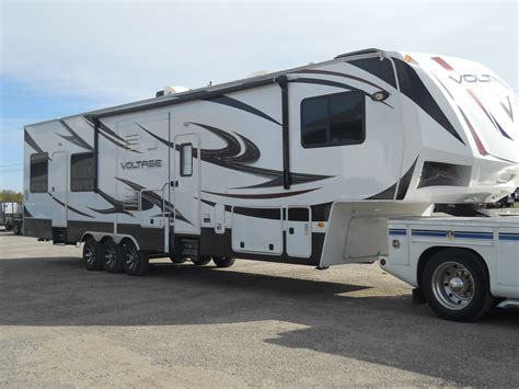 Used 2012 3905 Voltage Fifth Wheel Toyhauler