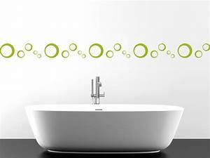 Selbstklebende Bordüre Fürs Bad : wandtattoo bord re wellness aus luftblasen ~ Watch28wear.com Haus und Dekorationen